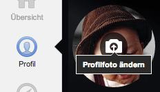 """Mit einem Klick auf  """"Profilfoto ändern"""" können Sie festlegen, welches Bild später in den Google Suchergebnissen angezeigt werden soll."""
