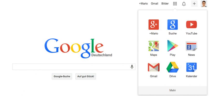 Neues Google Layout: Flat-Design