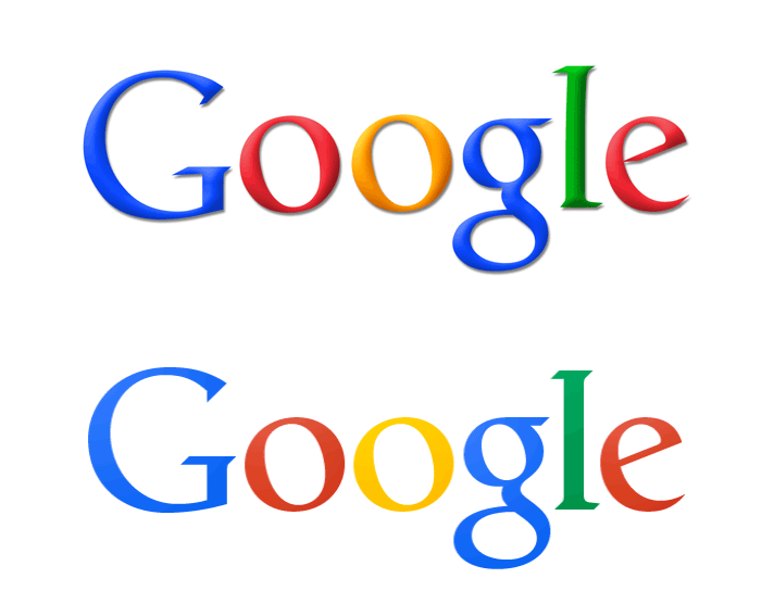 Google Logo im Flat Design