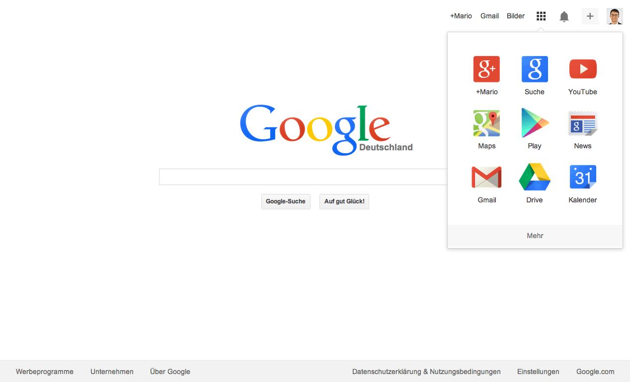 Die neue Google Suche im Flat-Design