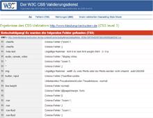 kostenlose SEO Tools - W3C CSS Validation Service