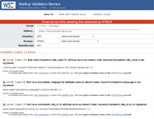 kostenlose SEO Tools - W3C Markup Validation Service