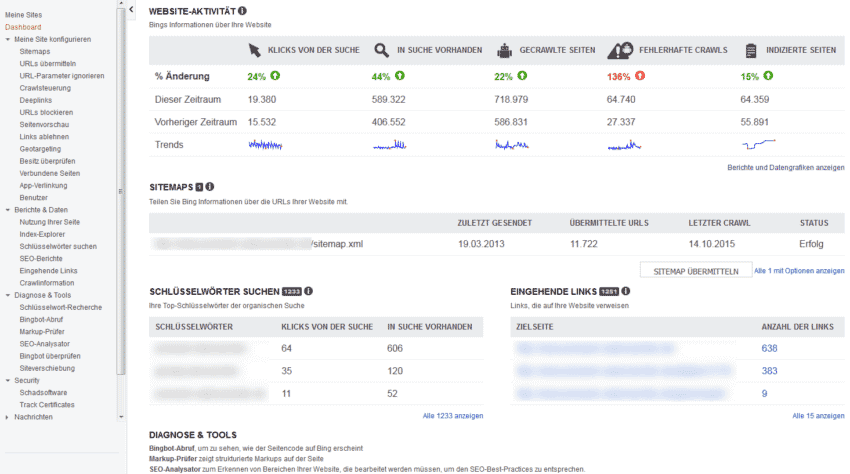 Website Monitoring: Bing Webmaster Tools