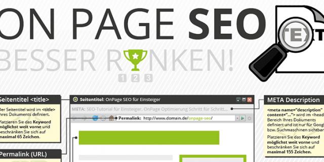 OnPage SEO / OnPage Optimierung
