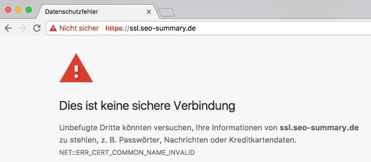 HTTPS-Aufruf ohne gültiges SSL Zertifikat