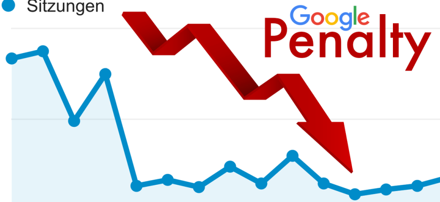 Google Penalty - Abstrafung durch Google