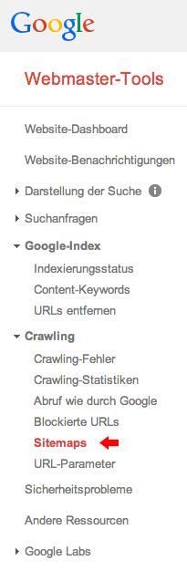 Google Sitemap für Webseite einreichen