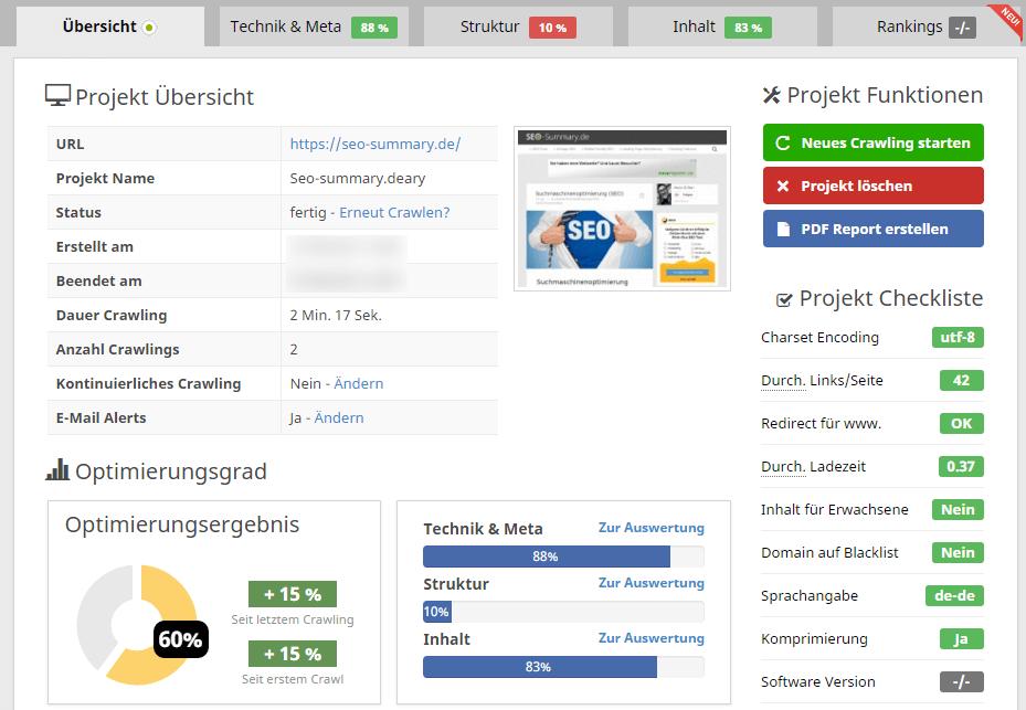 Seobility Screenshot
