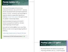 kostenlose SEO Tools - Google Update-Übersicht
